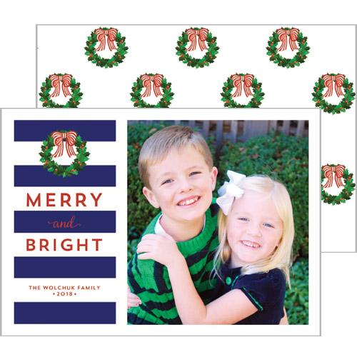 [CUSTOM] Christmas Rugby Stripe Photo Card