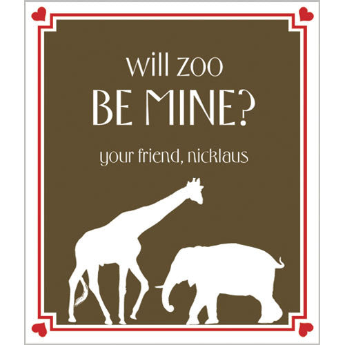 Safari Animals Valentines for Kids