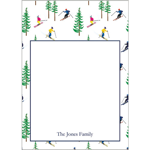 Ski Resort Personalized Notepad