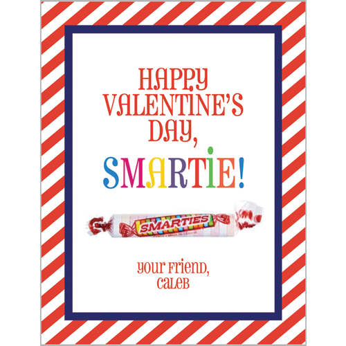 Smartie Valentines for Kids