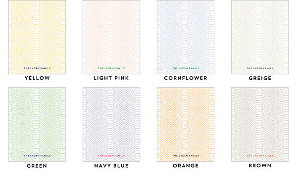 Snakeskin Personalized Notepad - More Colors