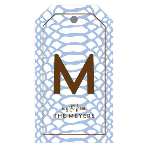 Snakeskin Personalized Gift Tags | More Colors