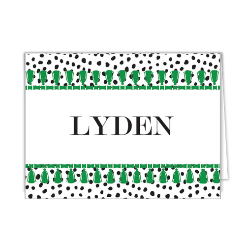Spots Tassel Personalized Folded Notecards