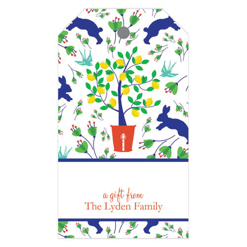 Spring Toile Personalized Gift Tags