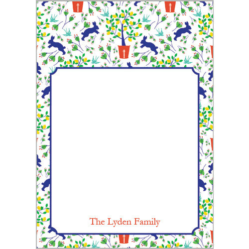 Spring Toile Personalized Notepad