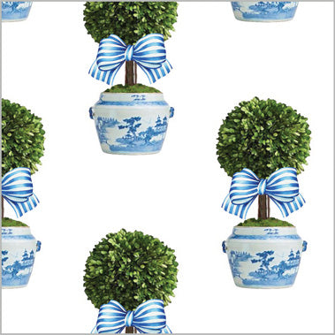 Striped Topiary Tree Gift Wrap Sheets