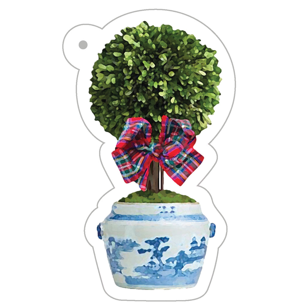 Stock Shoppe: Tartan Topiary Tree Die-Cut Gift Tags