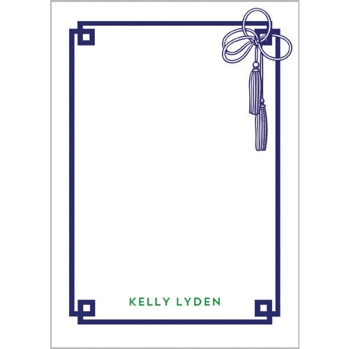 Tassel Fretwork Personalized Notepad - More Colors