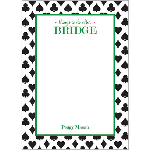 Things to Do AFTER Bridge Personalized Notepad