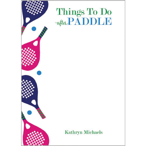 Things to Do AFTER Paddle Personalized Notepad