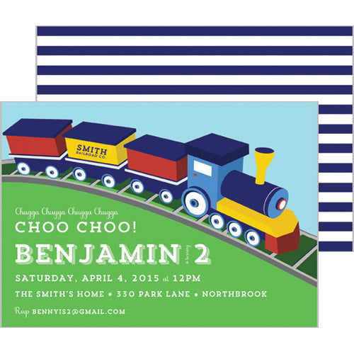 Choo Choo Train Party Invitation