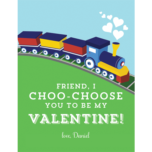 Choo Choo Train Valentines for Kids