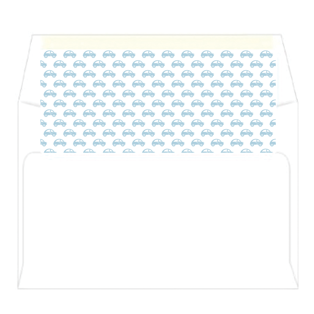 Transportation Baby Personalized Flat Notecards