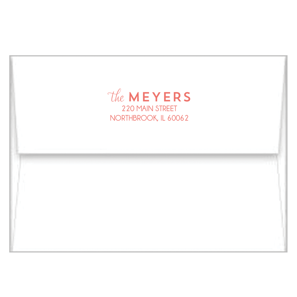 Watercolor Brushstrokes Personalized Flat Notecards
