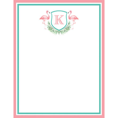 Watercolor Pink Flamingo Personalized Notepad