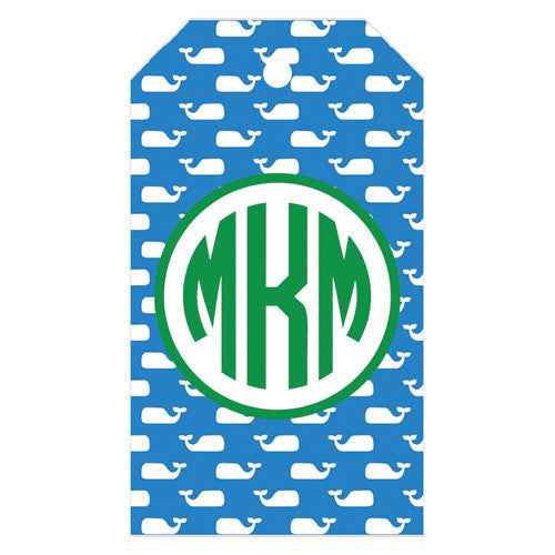 Preppy Whale Personalized Gift Tags | More Colors