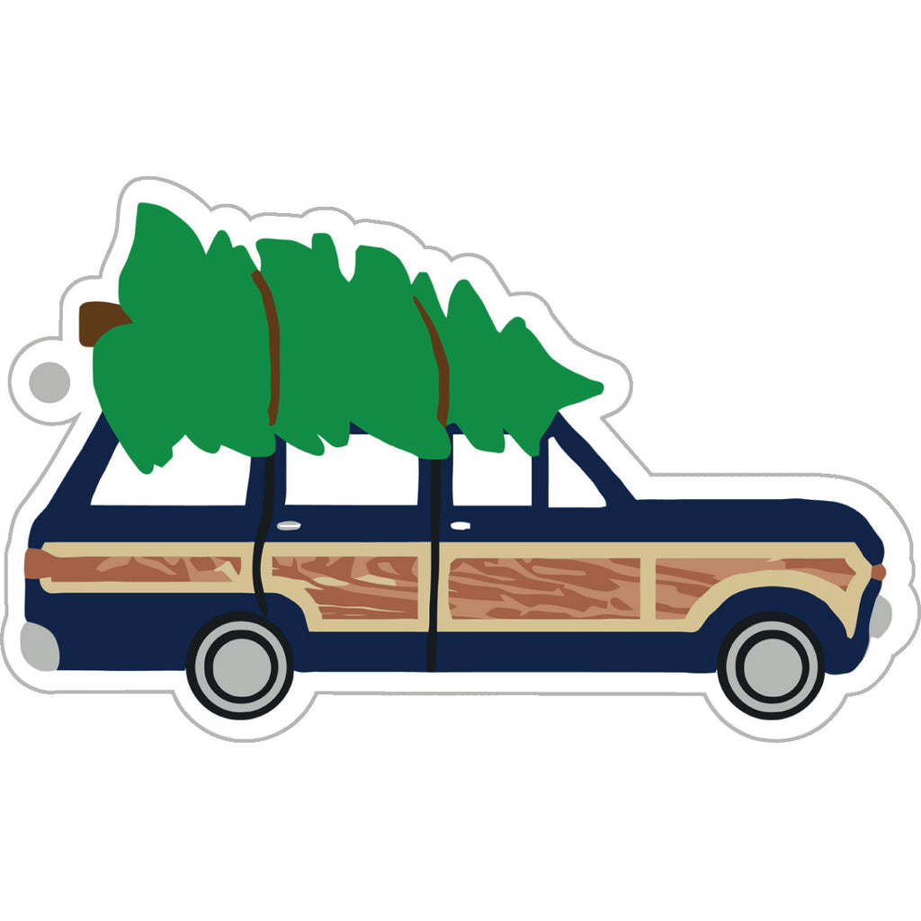 Stock Shoppe: Woodie Station Wagon Die-Cut Gift Tags