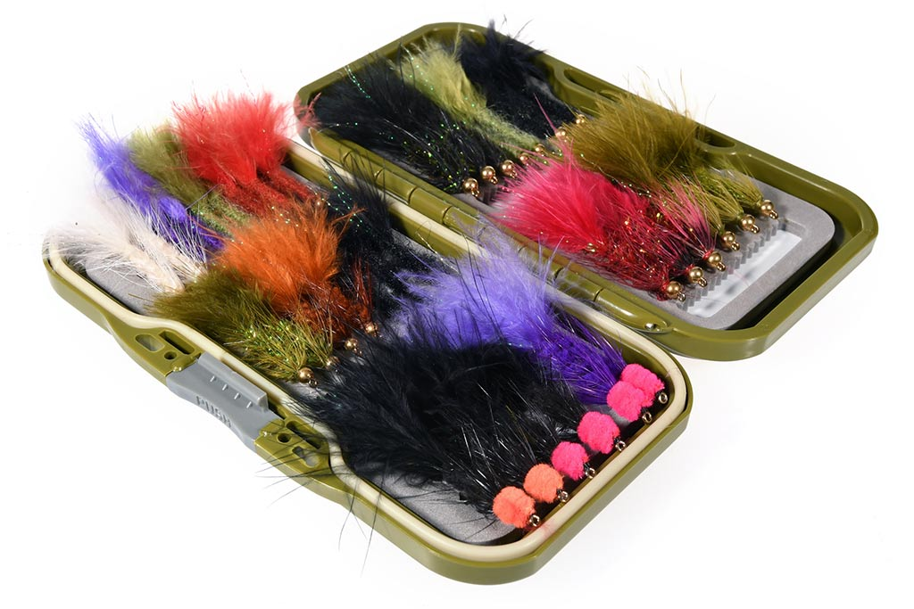35 Woolly Buggers Leeches Fly Selection