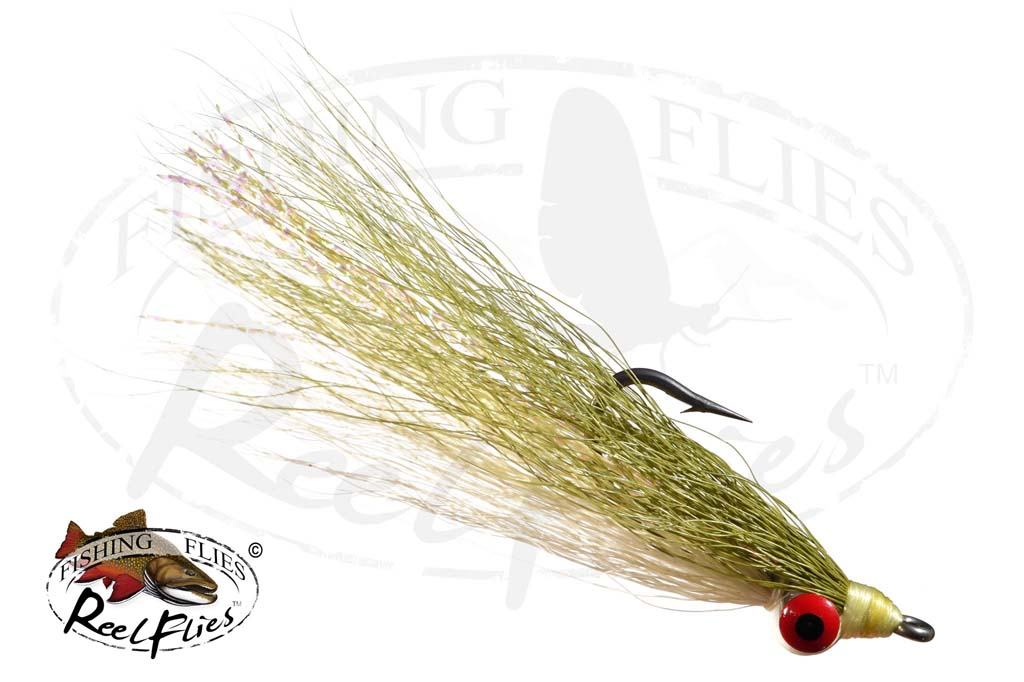 Clouser Minnow White Olive