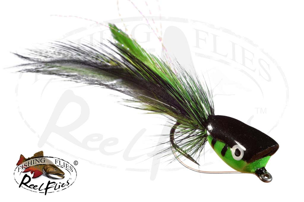 Bass Popper Green And Black