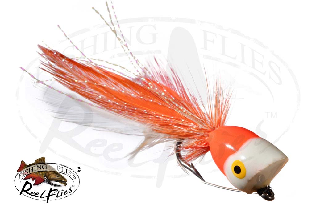 Bass Popper Orange White