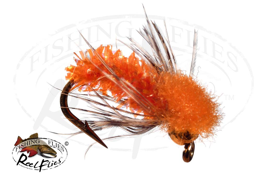 Bh Reelflies Orange Caddis