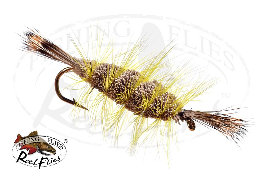 Bomber Brown Natural Yellow Hackle Natural Head Tail