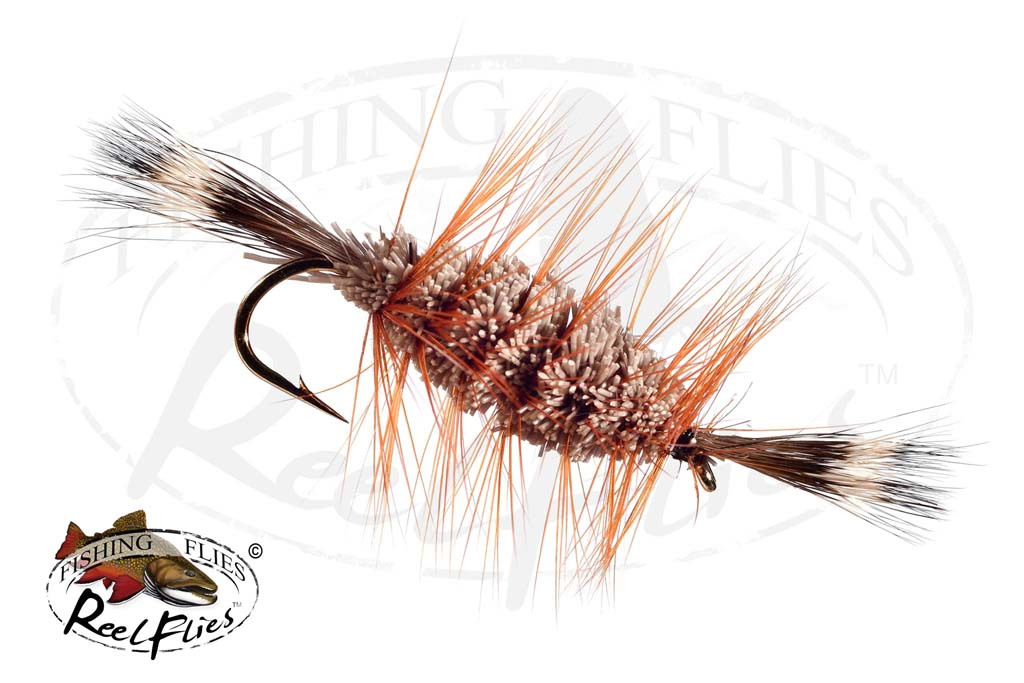 Bomber Brown Natural Brown Hackle Natural Head Tail Salmon Hook