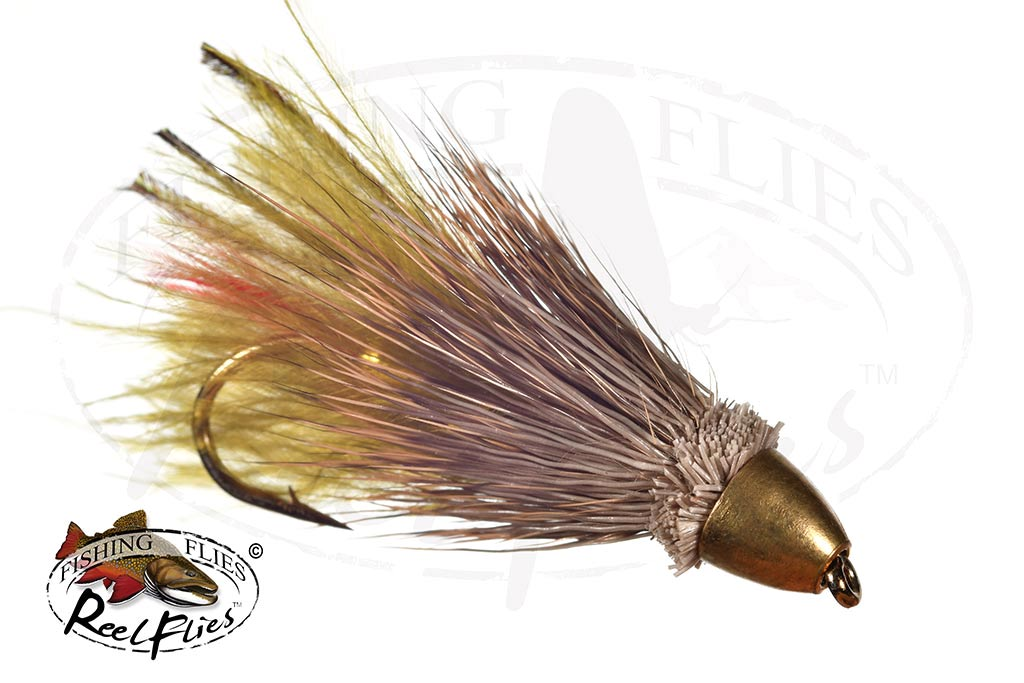 Conehead Muddler Minnow Marabou Olive