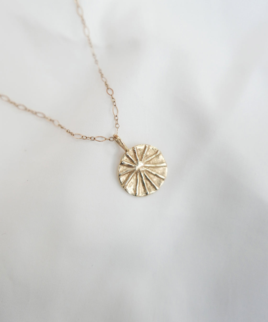 handmade gold medallion necklace