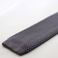 Slate Grey Knitted Tie