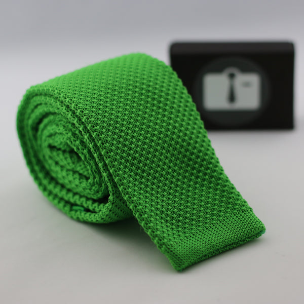 Apple Green Knitted Tie