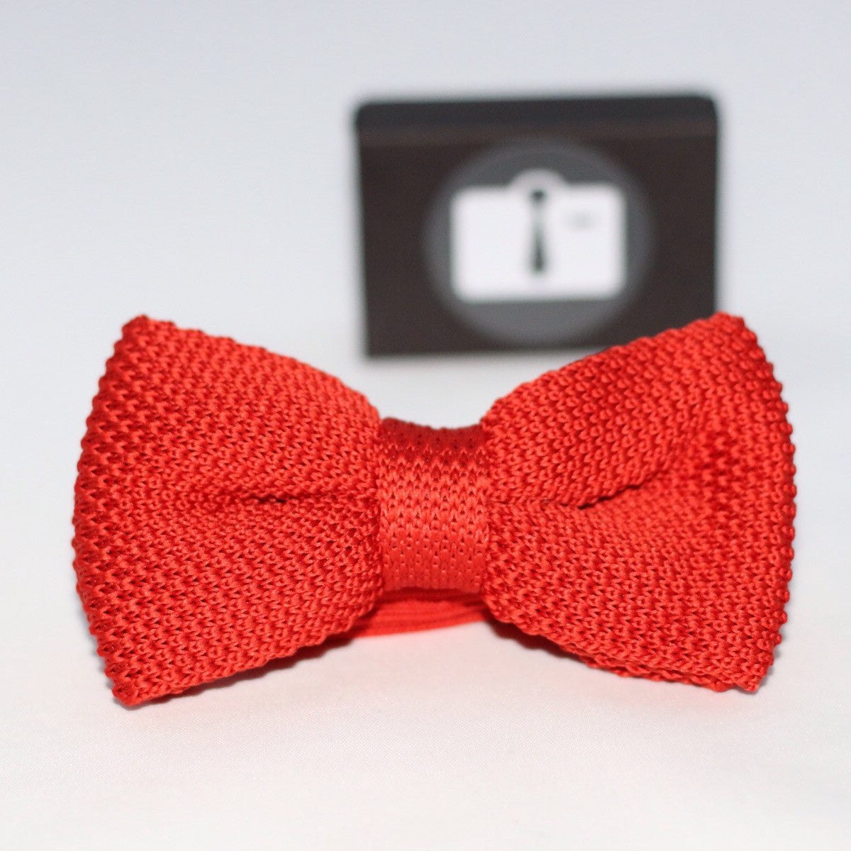 Burnt Orange Knitted Bow Tie