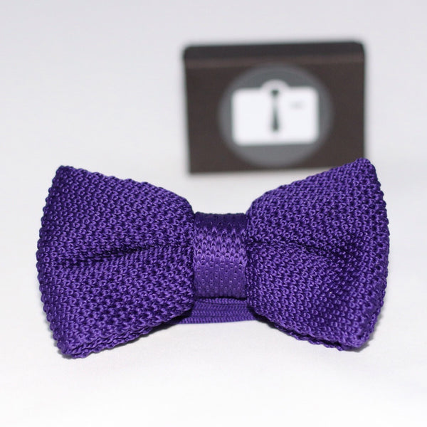 Grape Knitted Bow Tie