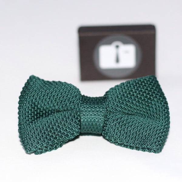 Pine Green Knitted Bow Tie