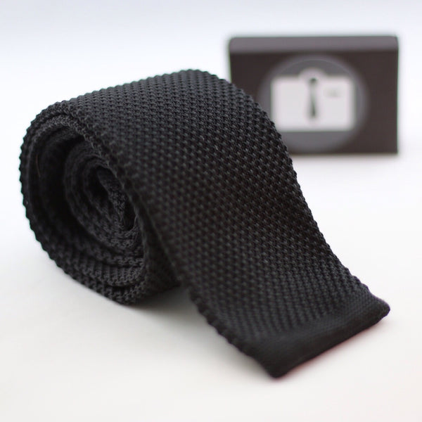 Black Knitted Tie