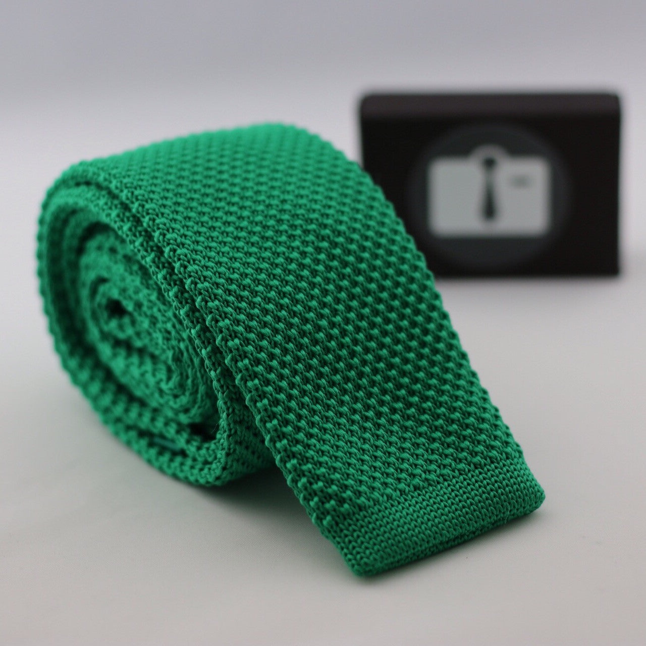 Spring Green Knitted Tie