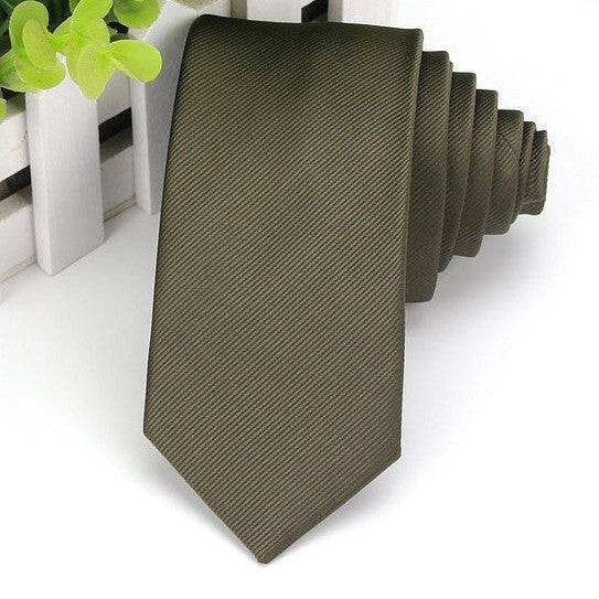 Army Green Satin Tie