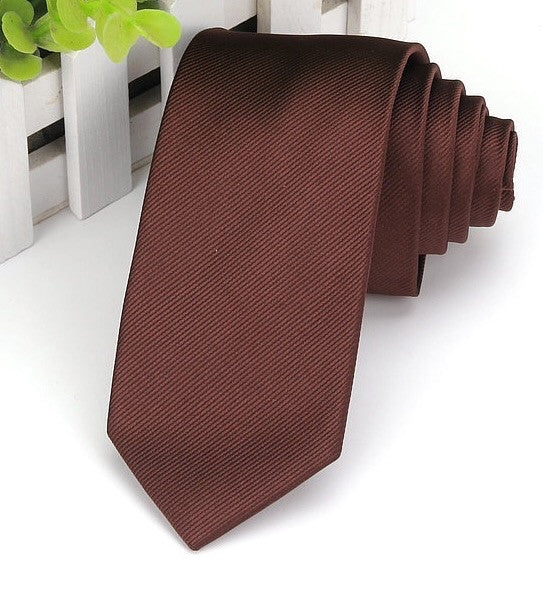 Brown Satin Tie