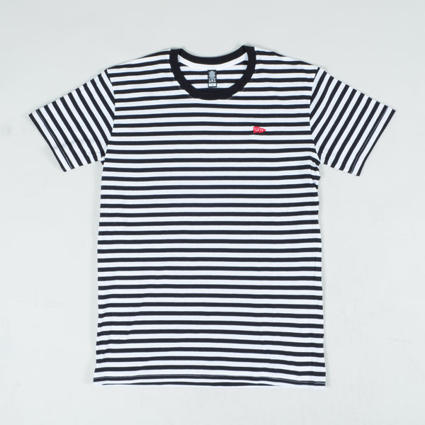 San Diego Collection / Black and White Stripe Tee
