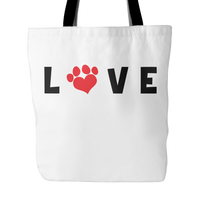 Dog Themed Tote Bag - LOVE (Style 1)