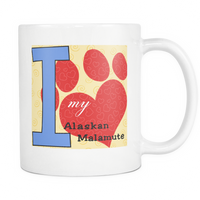 Dog Themed Mug - Alaskan Malamute Dog Breed On White