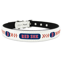 Boston Red Sox Dog Collar - Leather - FurMinded