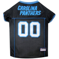 Carolina Panthers Dog Jersey – MESH Blue Trim - FurMinded