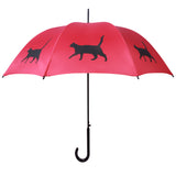 A Cat Umbrella (Black on Red) - FurMinded