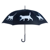 A Cat Umbrella (White on Black) - FurMinded