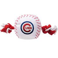 Chicago Cubs Dog Baseball Tug Toy - FurMinded