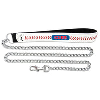 Chicago Cubs Dog Leash - Leather