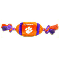 Clemson Tigers Plush Football Dog Toy - FurMinded