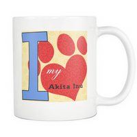 Dog Themed Mug - Akita Inu Dog Breed On White